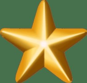 Award star (gold)