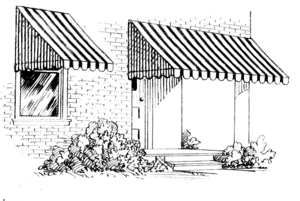 an illustration of an awning