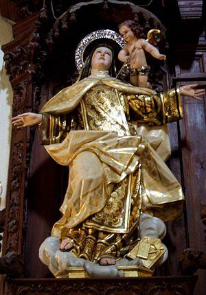Talla de Santa Teresa de Jesús en la iglesia d...