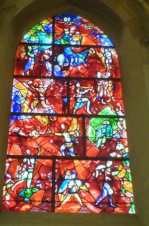English: Stained Glass window by Marc Chagall ...