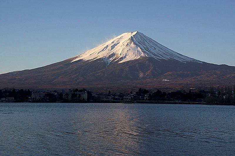 Imagen de la silueta del monte Fuji en la wikipedia