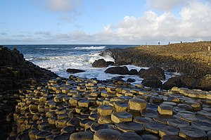 Giant's Causeway, Northern Ireland. Hexagonal ...