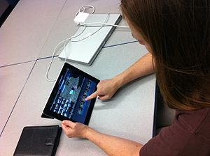 English: iPads offer a variety of software