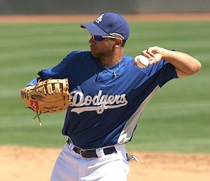 Dodgers first baseman James Loney during sprin...