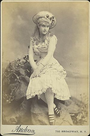 1882 photo of Lillian Russell in the Bijou Ope...