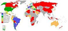 Mapa dos melhores resultados dos pa�ses participantes