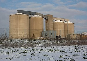 English: Old sugar beet factory A landmark on ...