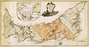 Prince Edward Island map 1775