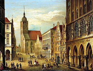 The Prinzipalmarkt in Münster, Westphalia, Ger...