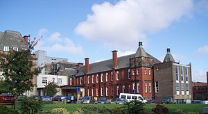 English: A section of the RVI hospital at Newc...