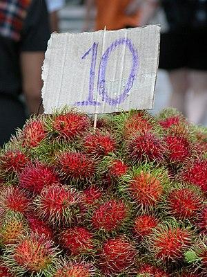 Rambutan for sale in a Bangkok market