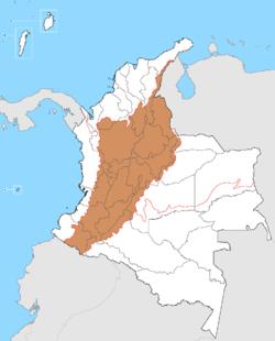Ubicación de Región Andina