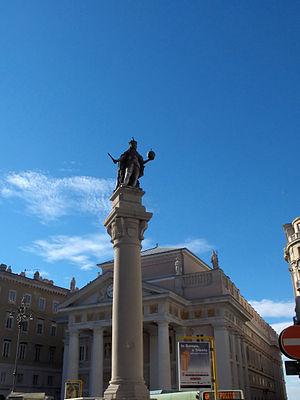 Trieste, Piazza della Borsa, Leopold I, Holy R...
