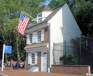English: Betsy Ross House in Philadelphia Cate...