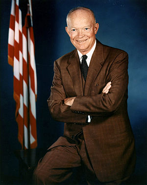 English: Dwight D. Eisenhower official photo p...