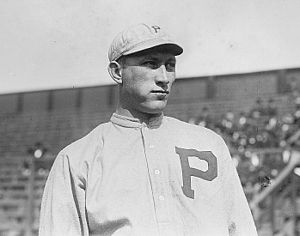 1911 photograph of Fred Luderus, first baseman...