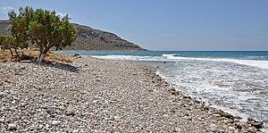 English: Goudouras (Crete, Greece): the beach ...