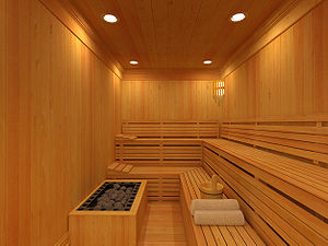 Rendering of Sauna at Highgrove