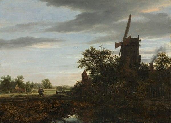 Paysage Avec Moulin Vent Wikipdia