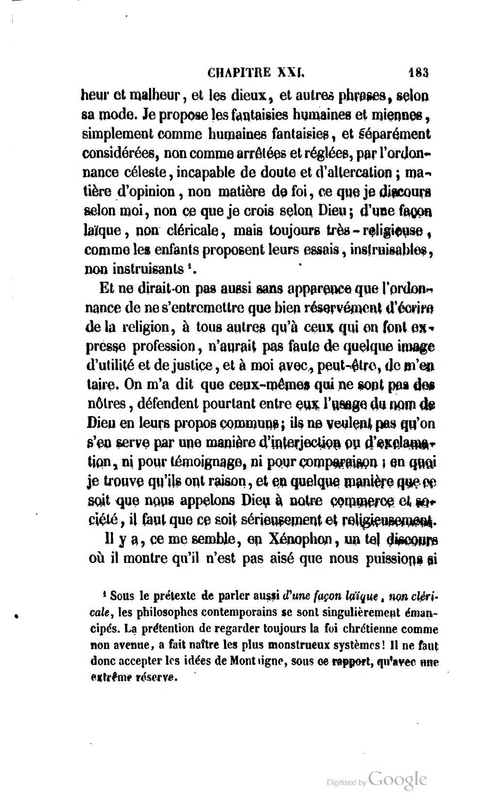 Au Sujet D'un Enfant Monstrueux : sujet, enfant, monstrueux, Page:Montaigne, Essais,, Musart,, 1847.djvu/189, Wikisource