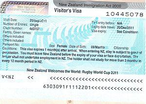 Visa Policy Of New Zealand Wikipedia