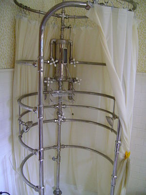 Rib shower at the Cartier Mansion in Ludington...