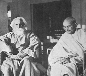 Rabindranath Tagore and Gandhi in 1940.