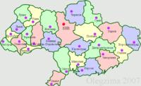 Дрогобицька область на мапі України 1946-1954