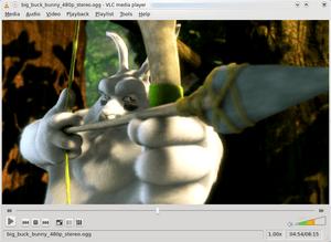 Scene in Big Buck Bunny playing in VLC media p...
