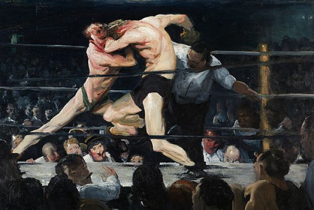 """Stag at Sharkey's"" by George Bellows"