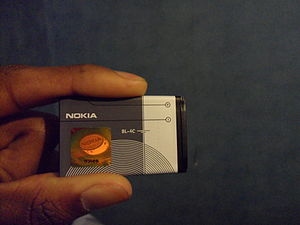 English: Nokia BL-5C lithium-ion battery from ...