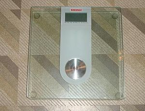 Load-cell based bathroom scale: Affected by th...