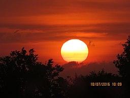 Big sun set