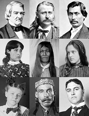 Collage of Cherokee men and women from public ...