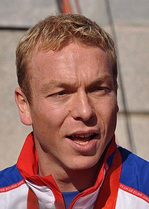 English: Chris Hoy, British track cyclist, at ...