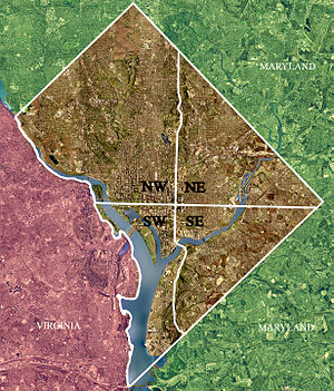 USGS satellite image of Washington, D.C., modi...
