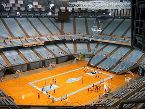 English: The interior of the Dean Smith Center...