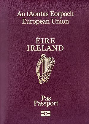 The cover of Irish electronic Passports as of ...