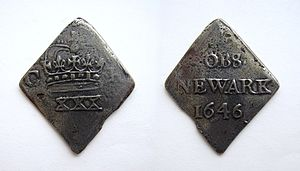 Charles I English Half-Crown from Newark in 16...