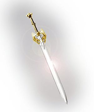 Excalibur In Welsh legend, King Arthur's sword...