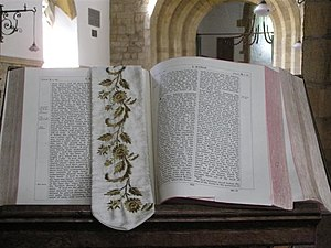 English: Holy bible, St Mary's Church Located ...