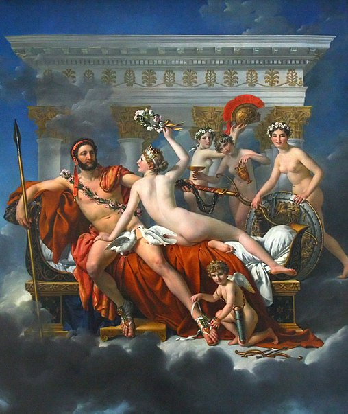 Jacques-Louis David, Mars i Wenus, 1824 (Museum Belgijskie)