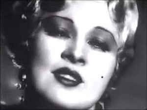 Screenshot of Mae West from the trailer for th...