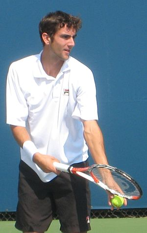 English: Marin Cilic at the 2008 Pilot Pen Ten...