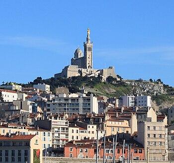 Français : Basilique Notre-Dame de la Garde, M...
