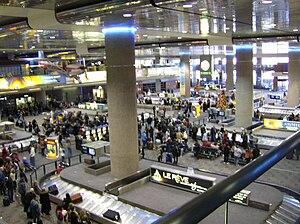 Baggage claim area in Terminal 1 of McCarran I...