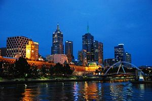 Southbank night, Melbourne, Australia