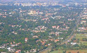 An aerial of the Kenyan capital, Nairobi.
