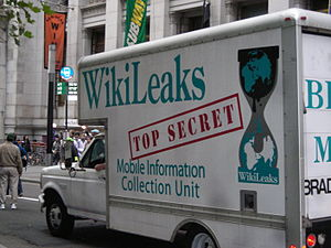 A fake WikiLeaks Truck during the #OccupyWallS...