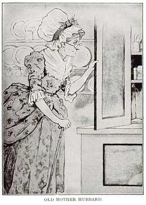 Illustration of Old Mother Hubbard, from a 192...